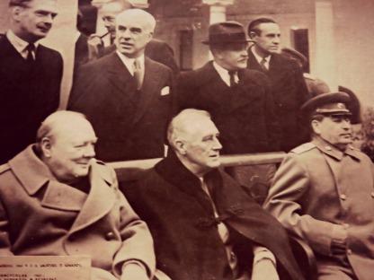 Churchill , Roosevelt, Staljin na konferenciji u Jalti, 1945.
