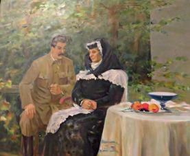 Staljin i njegva mama u Goriju
