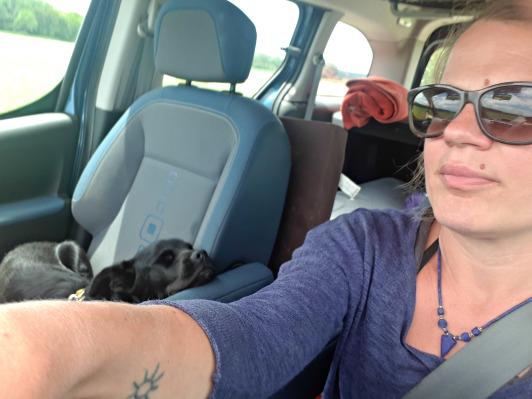 i mrzi se vozit u autu, al kad bas mora bude si odspaval.